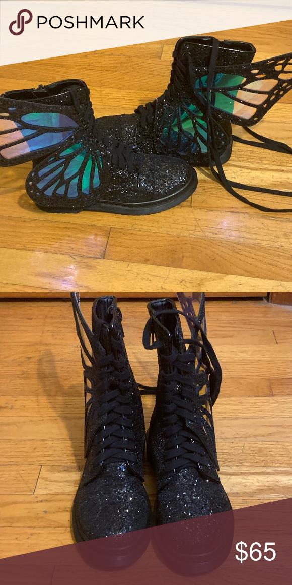 28fd43ef1a7 Dolls Kill Shoes   Dolls Kill Club Exx Butterfly Boots   Color ...