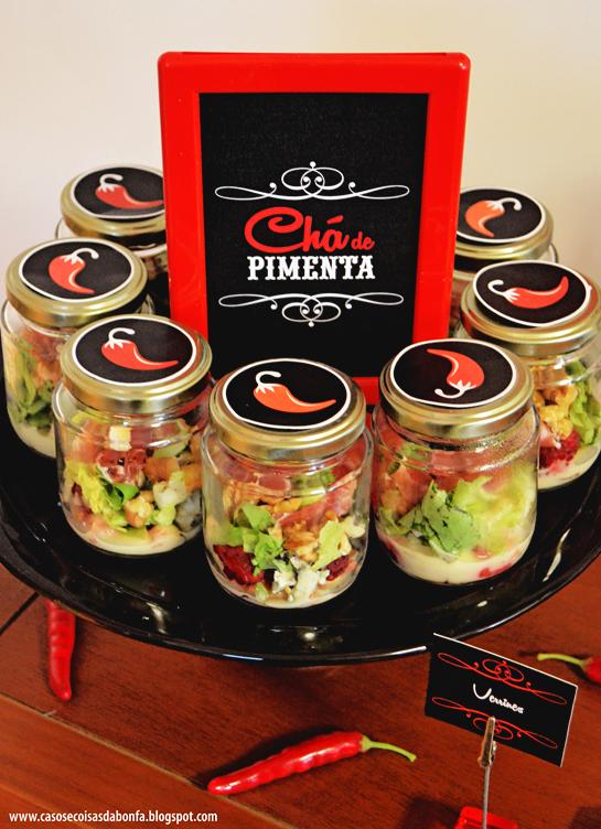 Chá de Pimenta | saladinhas em verrine
