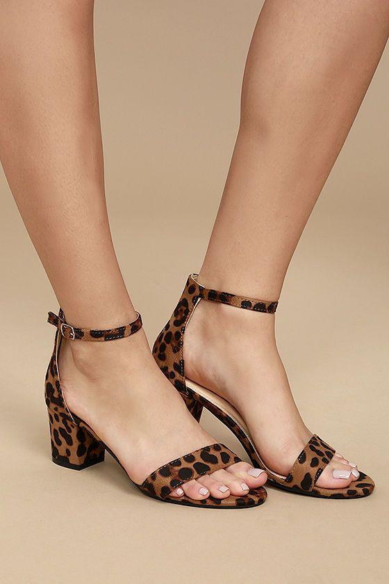 8a166d44143 Rasine Leopard Suede Ankle Strap Heels