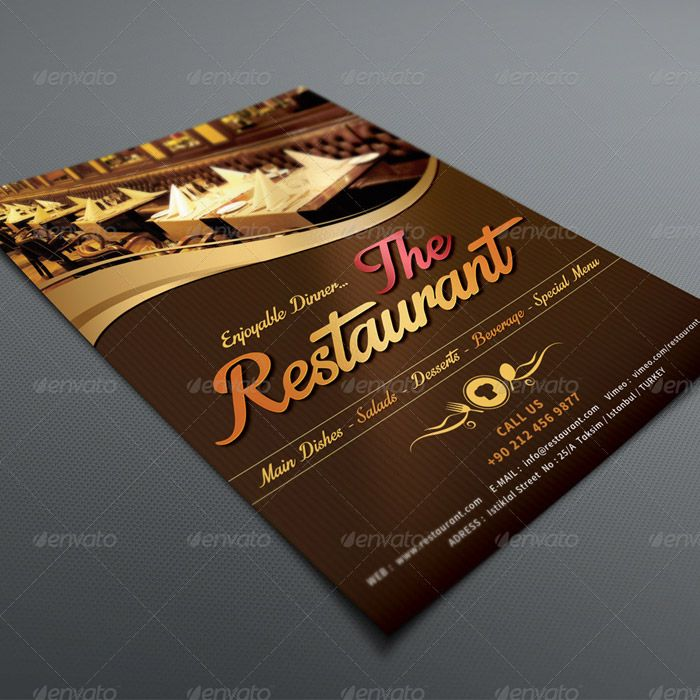 20 Delicious Looking Restaurant Flyer Templates