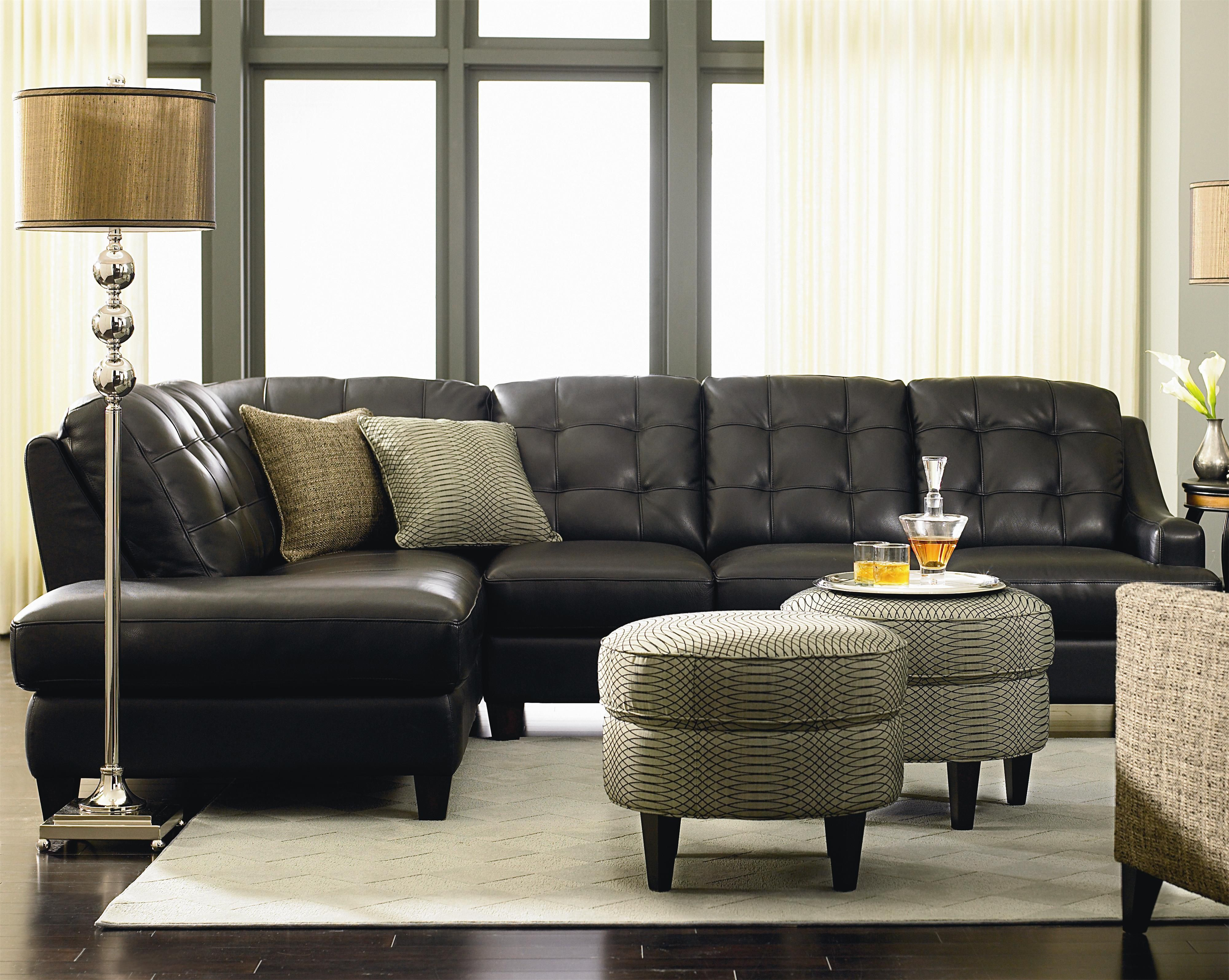 Mercer by Bassett - Darvin Furniture - Bassett Mercer Dealer Illinois. Mercer Left Chaise Leather Sectional ... : bassett leather sectional - Sectionals, Sofas & Couches