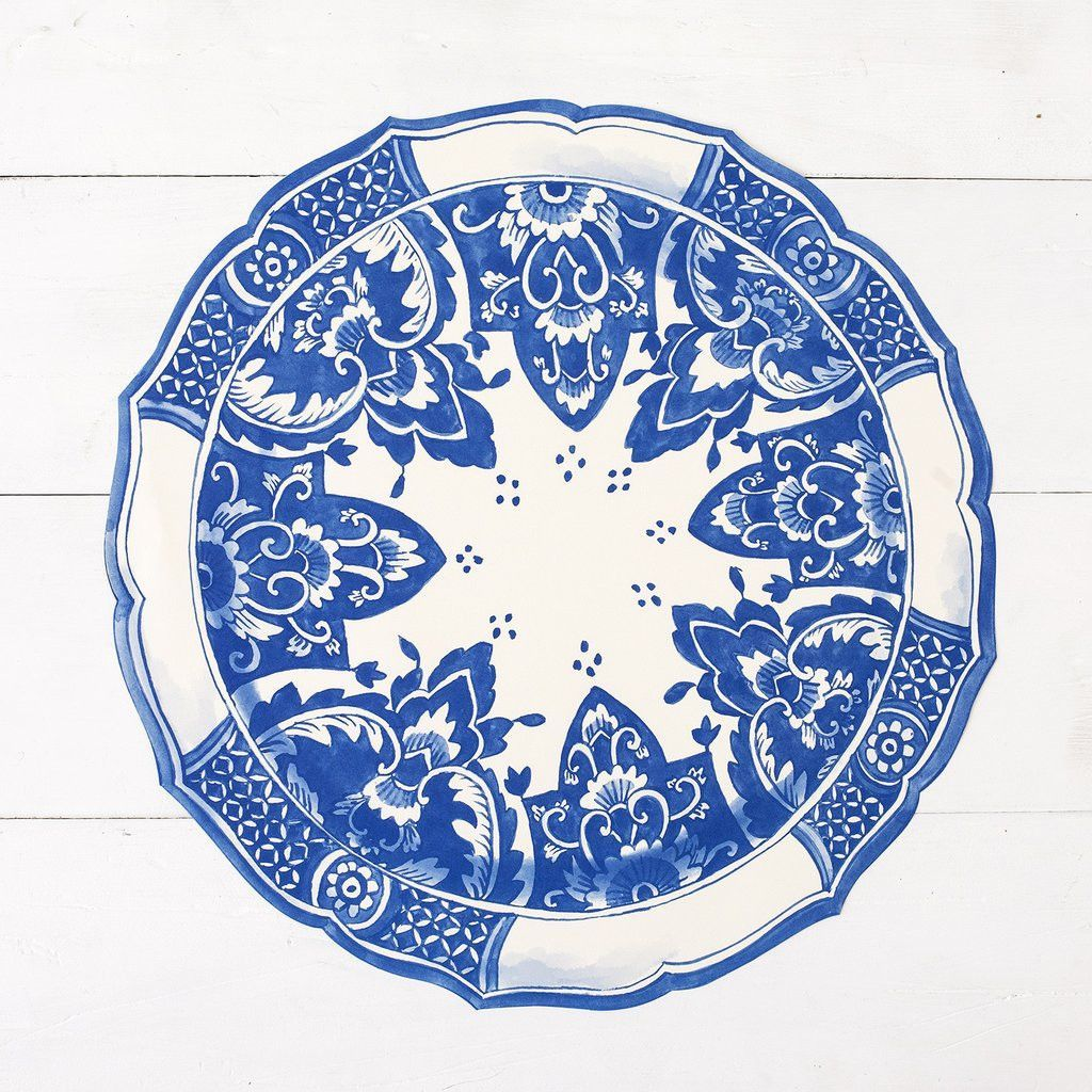 China Blue Die-Cut Placemat Sheets | between palms (kitchen ...