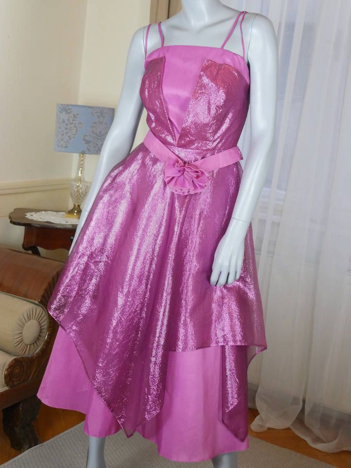 1980s Prom Dress, European Vintage Pretty in Pink