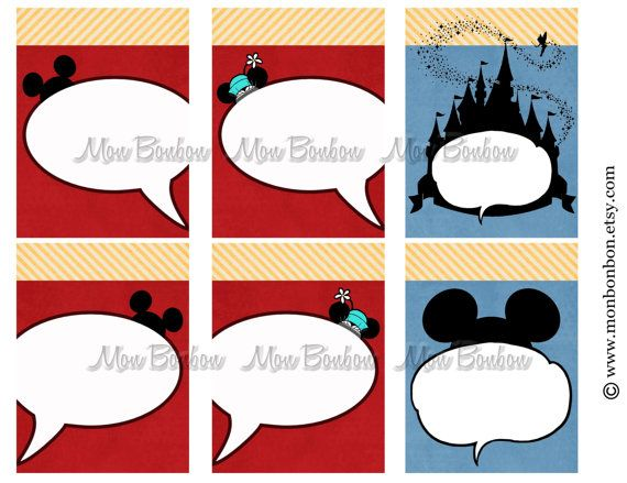 6 Digital Disney Journal Cards Perfect For Disney Project Life