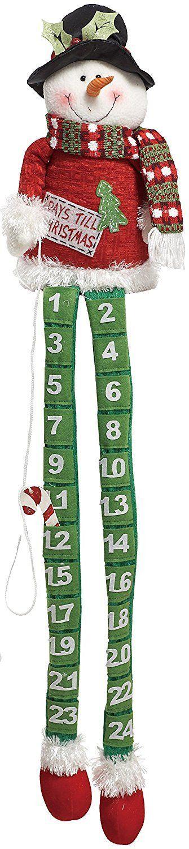 Plush Fabric Long Leg Snowman or Santa Christmas Advent Calendar