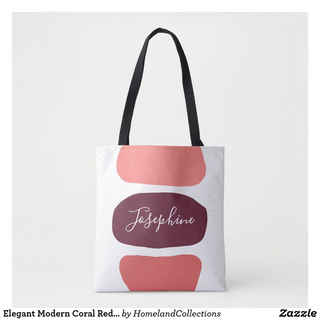 Elegant Modern Coral Red Artsy Pattern Personalize Tote Bag Zazzle Com In 2020 Personalized Tote Bags Personalize Totes Tote Bag