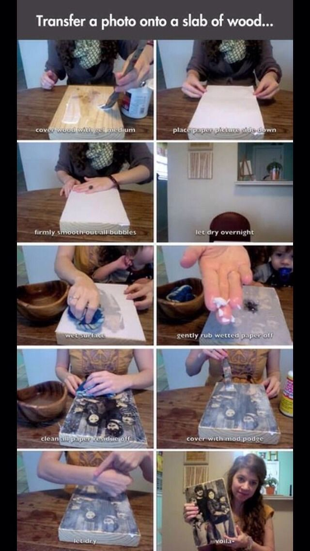 How To Transfer A Photograph To Wood! #Entertainment #Trusper #Tip