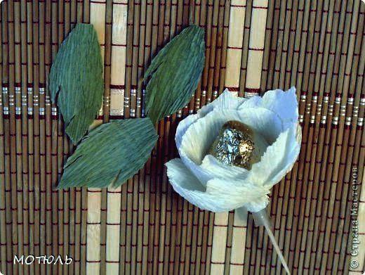 Wie man Schokoladen-Jasmin-Blumen aus Krepppapier macht in ...