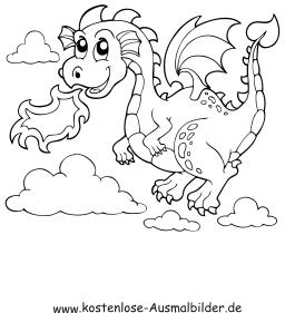 Ausmalbild Feuer Spuckender Drache Drachen Zum Ausmalen Drachen Ausmalbilder Dragons Ausmalbilder