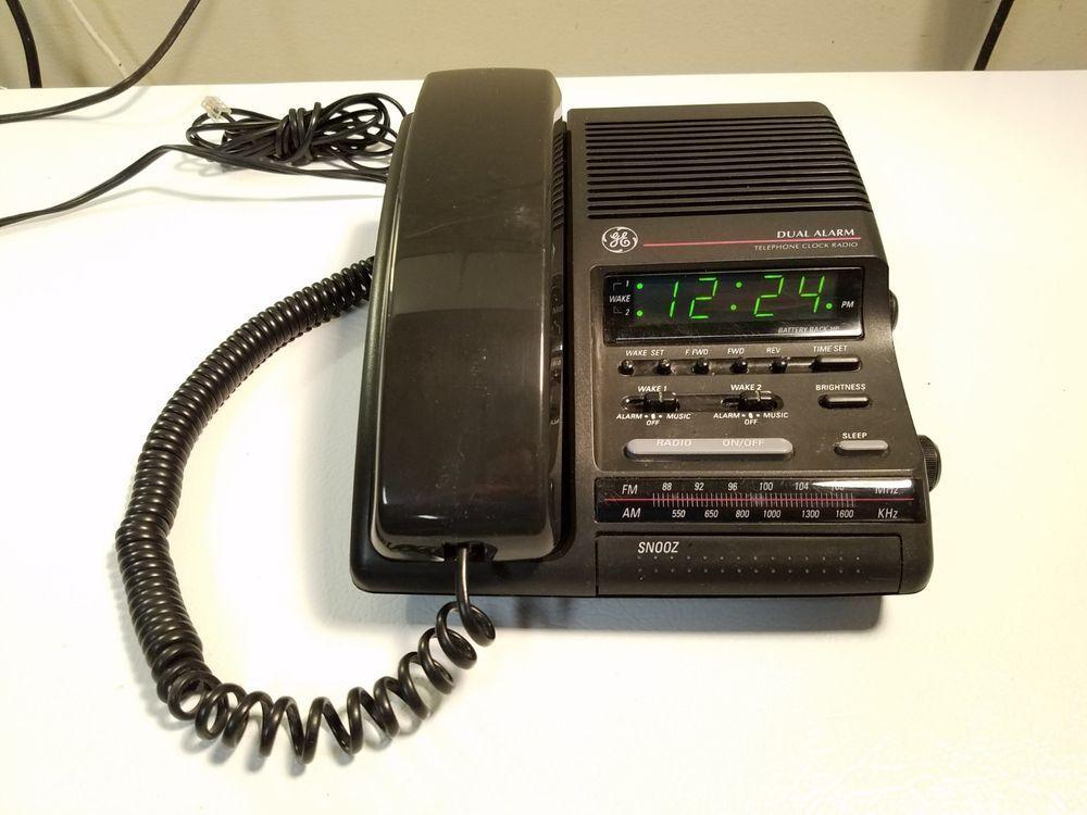 Ge Lcd Dual Alarm Clock Am Fm Radio