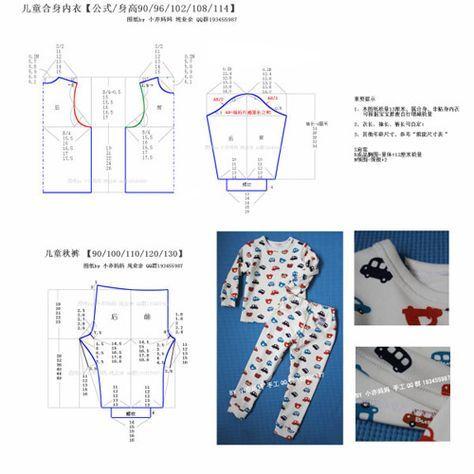 cc7cd43d53 Patron para hacer pijamas para niños