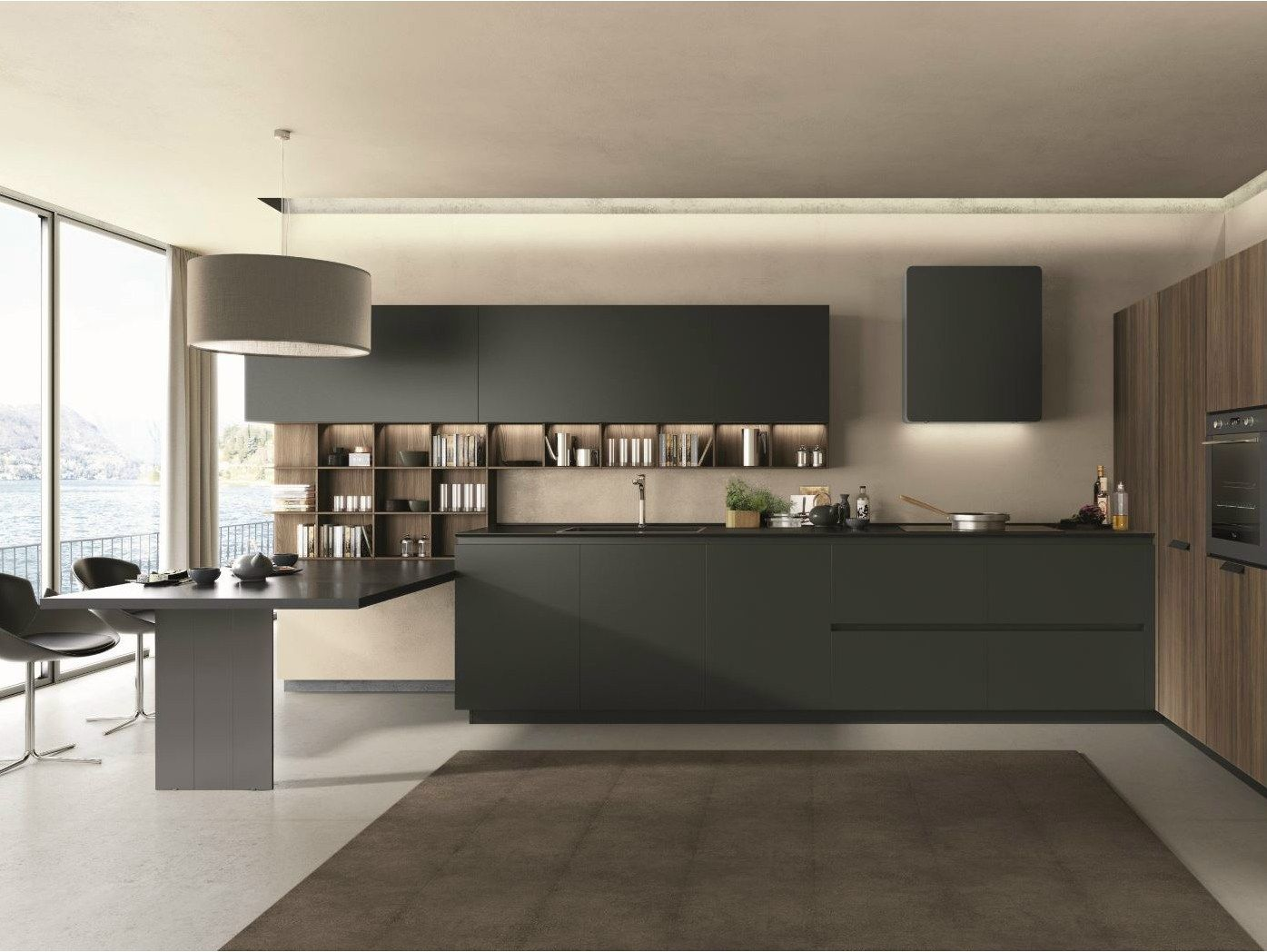 Superior Fitted Kitchen With Peninsula FILOLAIN By Euromobil Design Inspirations