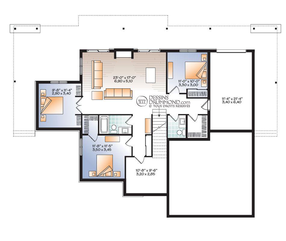 Zen   Contemporain, Bordure de lac   Chalet W3967 Maison Laprise - plan de maisons modernes