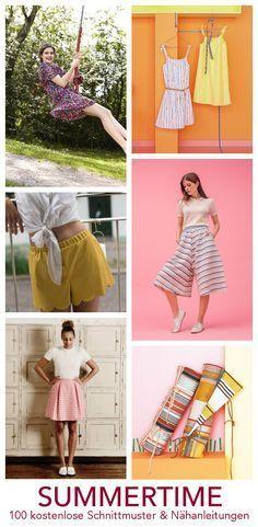 100 kostenlose Anleitungen, Schnittmuster und Freebooks zum Nähen von Kleidung | DIY MODE