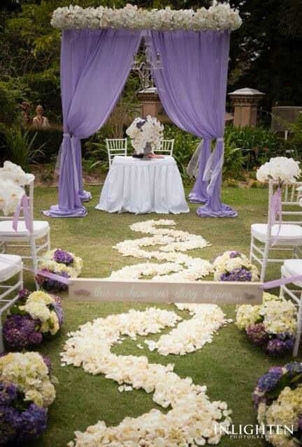 Purple Wedding Canopy Wedding Decorations Wedding