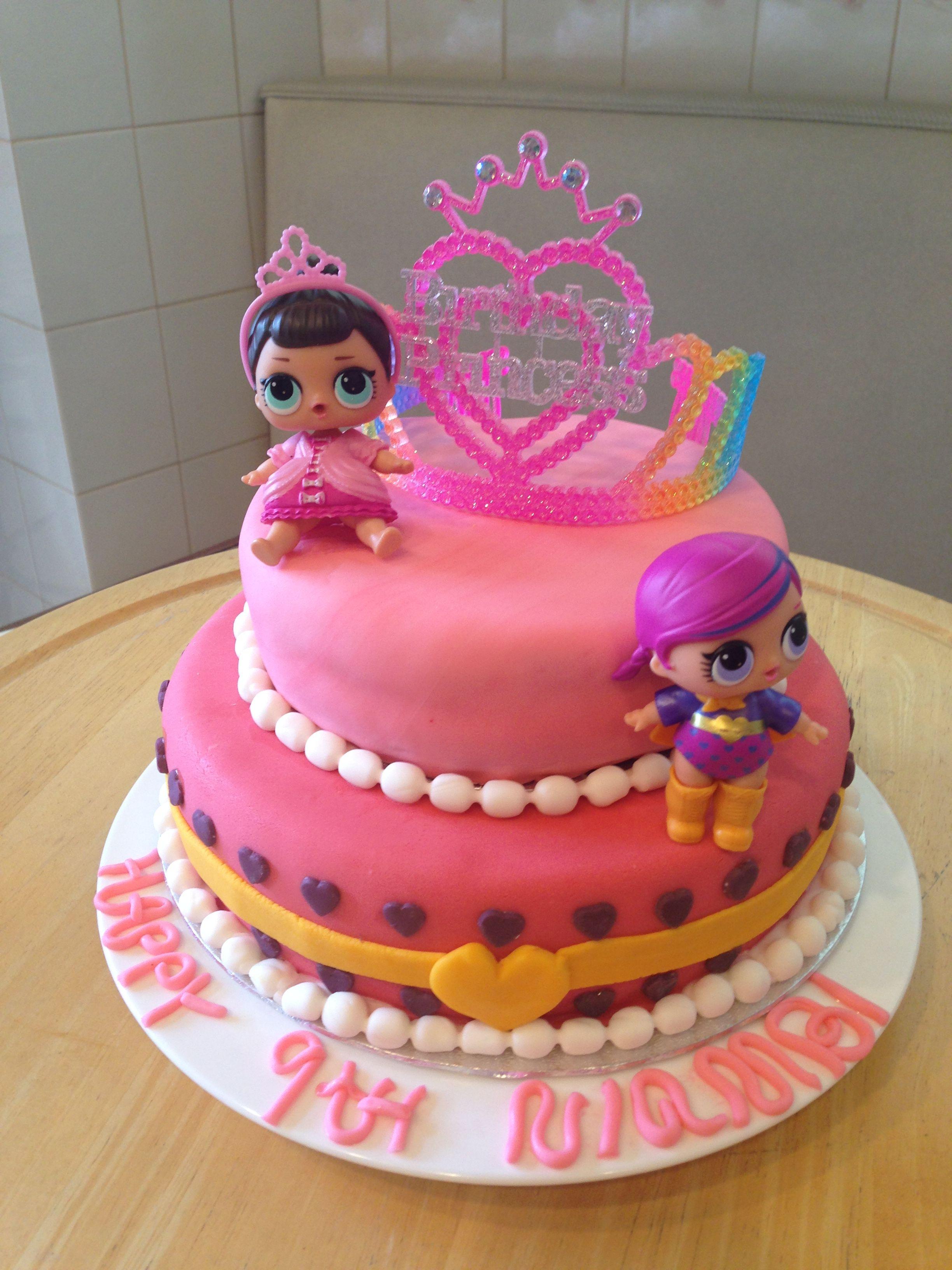Lol surprise doll birthday cake lol dolls theme party