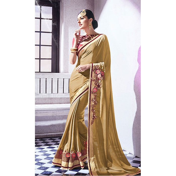 http://www.thatsend.com/ate/shopping/lp/fvp/TESG146784/i/TE192400/iu/beige-jacquard-designer-saree  Beige Jacquard Designer Saree Apparel Pattern Embroidered. Work Border Lace, Embroidery. Blouse Piece Yes. Occasion Festive, Diwali. Top Color Red.