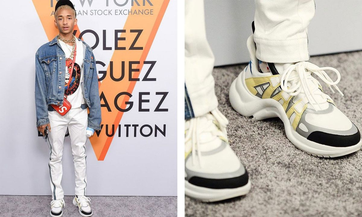 Jaden Smith Rocks Louis Vuitton SS18 Sneakers at NYC