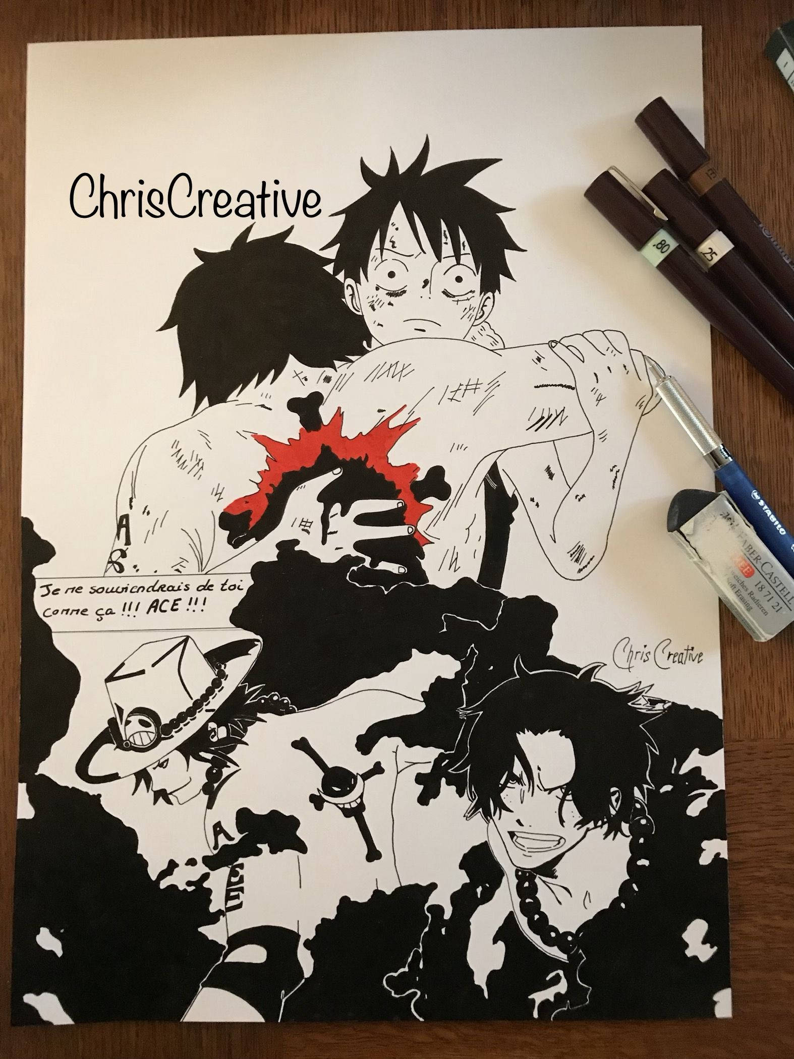 ONE PIECE ACE ACE IS DEAD Onepiece Chapeaudepaille Luffy