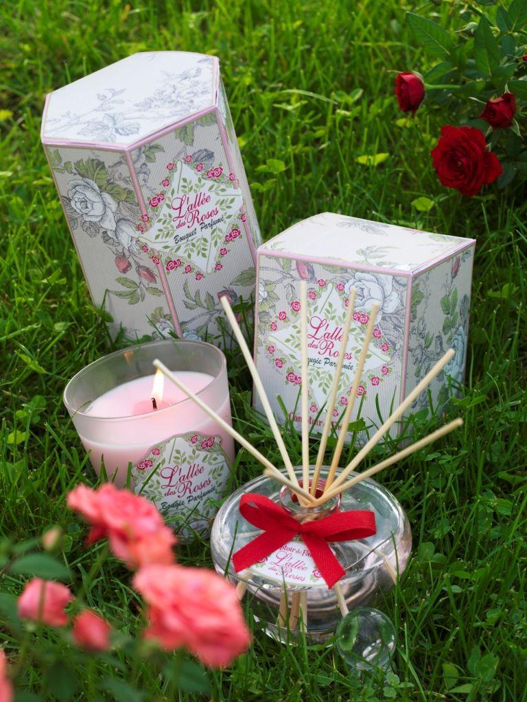 Bougie et bouquet parfum l 39 all e des roses - Www comptoir de famille com boutique ...