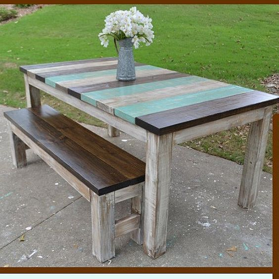 Places That Sell Furniture: Vertical Board Farmhouse Table Custom Built By