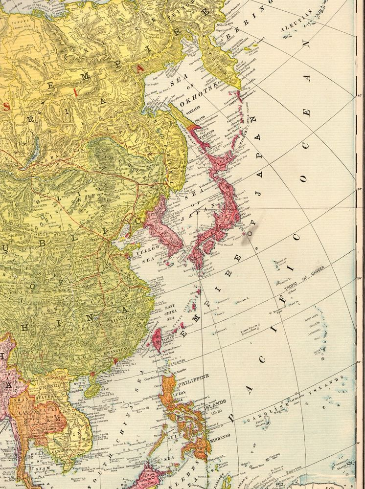 1920 Antique ASIA Map of Asia Gallery Wall Art RARE Poster ...