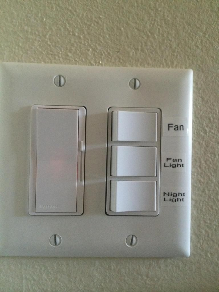 Bathroom Light Extractor Fan Switch