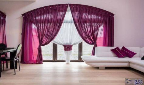 ديكورات الستائر الرائعة لديكور منعش في صيف تنقسم الستائر إلى أنواع ثلاثة الأمريكي والإسباني والروم Curtains Living Room Living Room Colors Modern Curtains