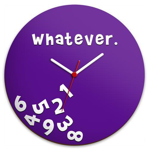 7078fb0f379 Relógio de Parede Whatever    Hmmm. Presentes Criativos Para NamoradaRelogio  ...