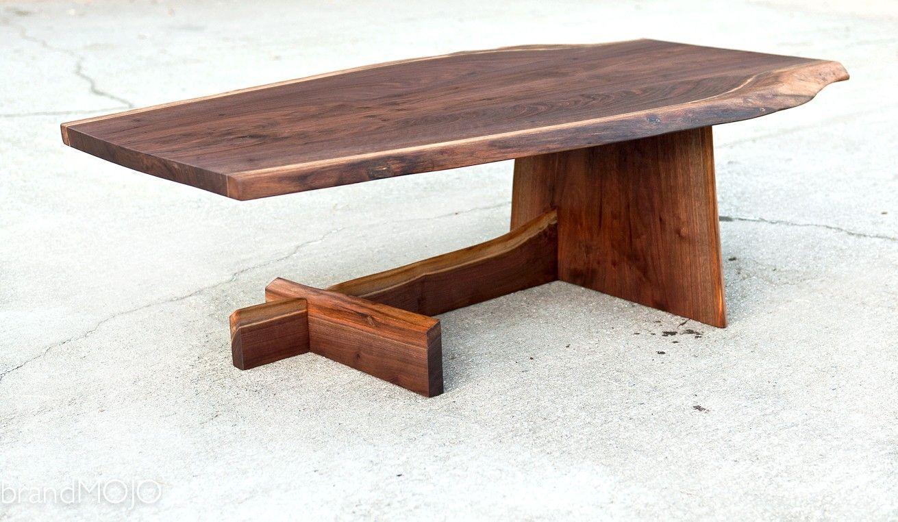 Live Edge Cantilever Coffee Table Live Edge Wood Furniture Live Edge Coffee Table Coffee Table Wood [ 762 x 1311 Pixel ]