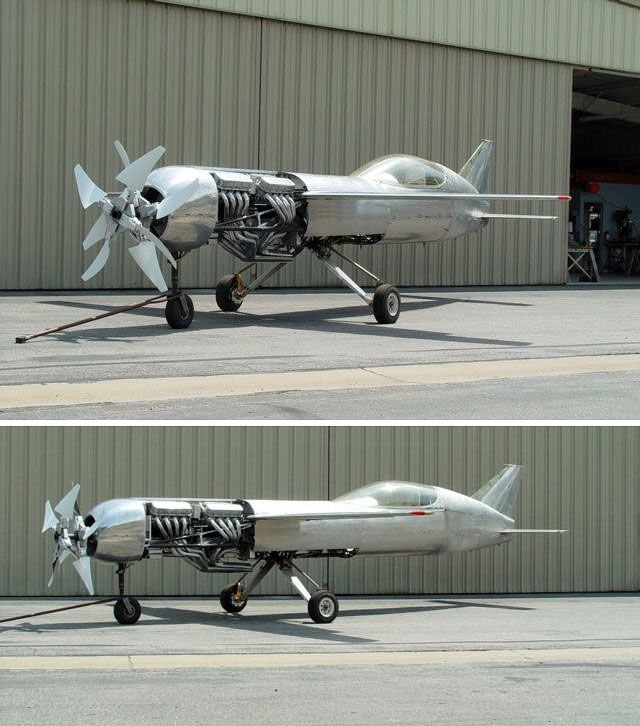Cool Plane Propellers : Looks like aben jamal s futuristic aircraft from the