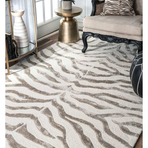 Found It At Joss Main Haley Gray Animal Print Wool Hand Tufted Area Rug