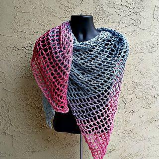 a54c7355350192 Remix Triangle Scarf Shawlby Acquanetta FergusonFree crochet pattern  Mandala yarn