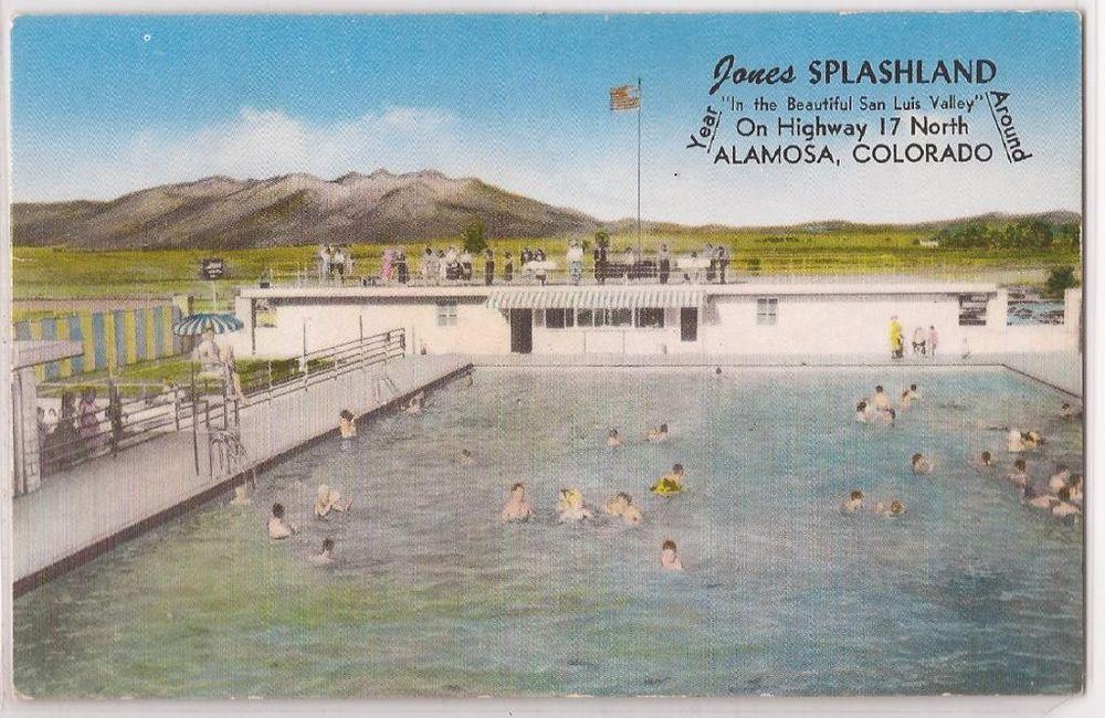 Details about alamosa colorado postcard jones splashland - San diego state university swimming pool ...