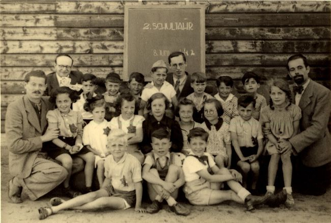 School in Nazi concentration camp Westerbork, The Netherlands.