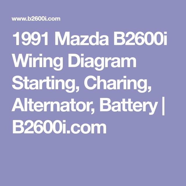 1991 mazda b2600i wiring diagrams 1991 mazda b2600i wiring diagram starting  charing  alternator  1991 mazda b2600i wiring diagram