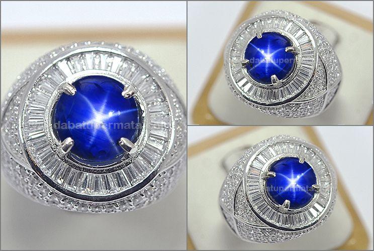 NATURAL NO HEAT ROYAL BLUE SAFIR STAR BURMA - SPS 284