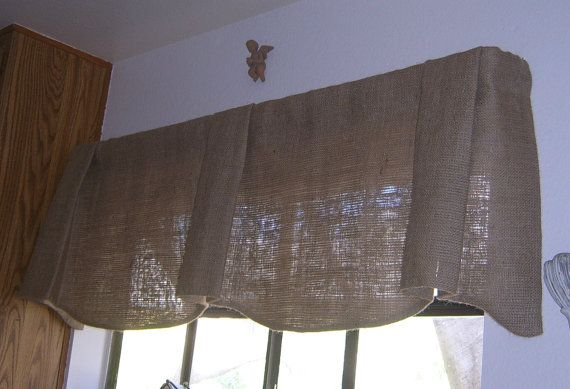 Burlap Scalloped Bottom Pleated Center and by CasualEleganceHome, $45.00