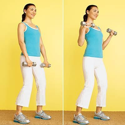 #workout  #fitness | Health.com #jiggle #with  Stop arm jiggle with this Reverse Bicep Curl move.
