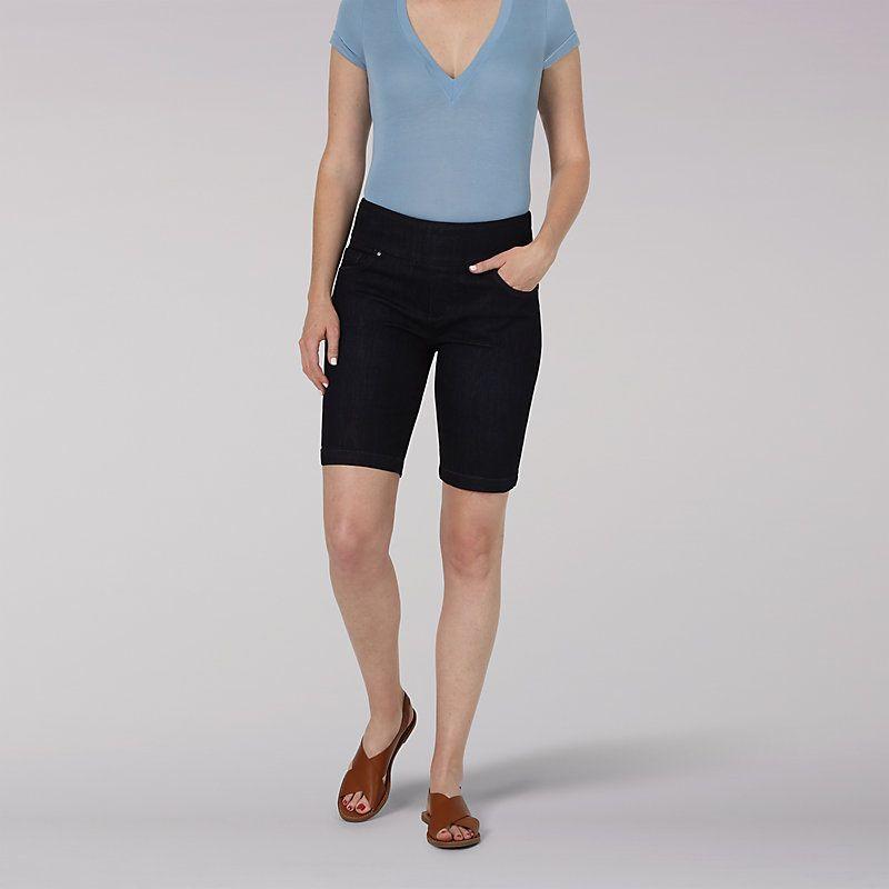 LEE Womens Sculpting Slim Fit Pull on 10 Bermuda Short
