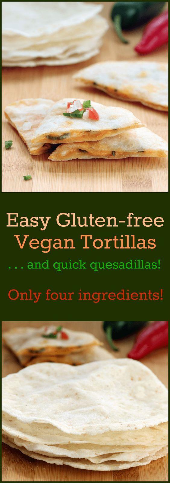 Easy Gluten-free Vegan Tortillas Collage | Vegan gluten ...