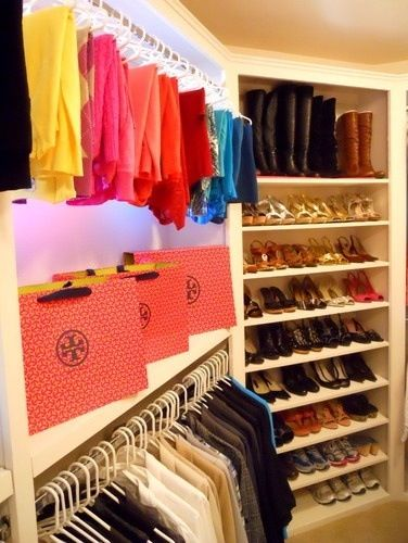 Color code your closet for aesthetic and organization.