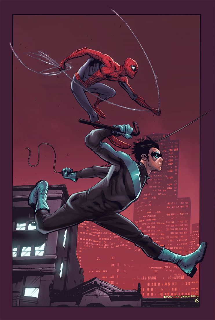 Spider-Man Nightwing // artwork by Brent McKee and Eddy ...