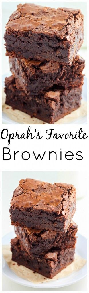 Brownies Click through to grab the recipe for the FAMOUS Baked Bakery Brownies! Also known as Oprah's favorite brownie. They're thick, fudgy, and addicting.Click through to grab the recipe for the FAMOUS Baked Bakery Brownies! Also known as Oprah's favorite brownie. They're thick, fudgy, and addicting.
