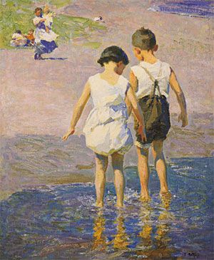 Edward Potthast American Impressionists Summer Day Brighton ART