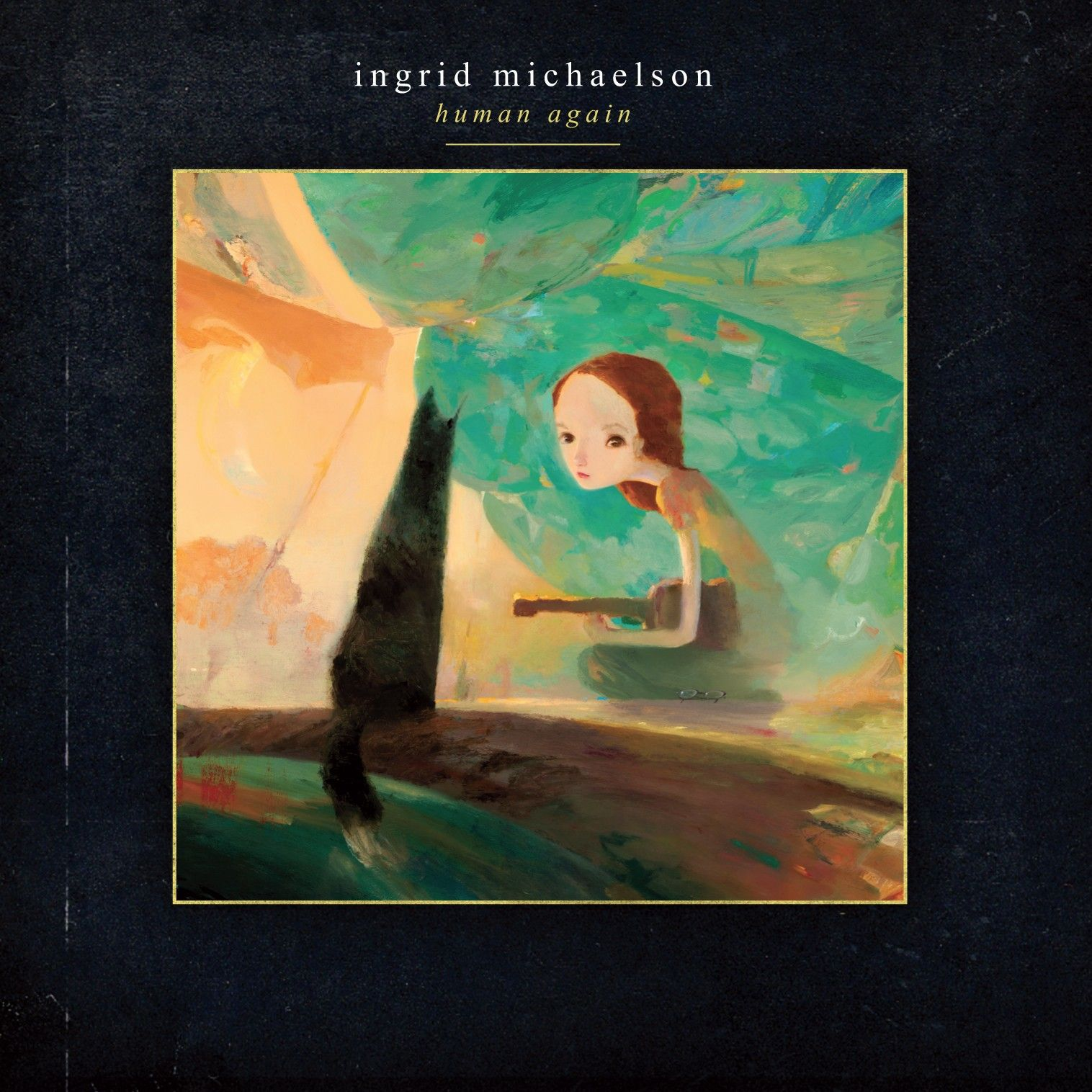 Ingrid michaelson human again 2012 book illustration releases joe sorren x ingrid michaelson human again album cover and print arrested motion hexwebz Gallery