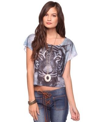 Sublimated Tiger Tee - StyleSays