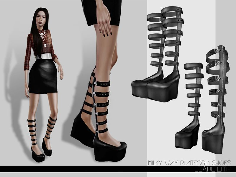 Millky Way Platform Shoes Found in TSR Category \'Sims 3 Female ...