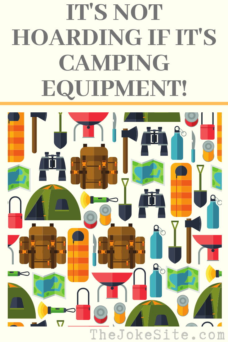 16 Funny Camping Jokes Puns And Quotes Thejokesite Com Laugh Along With Us Find Lots Of Jokes For The Entire Fami In 2020 Camping Humor Camping Jokes Camping Fun