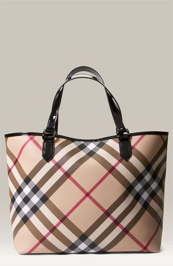 60f32a85b0bf Large Burberry Tote - fill it with little bags to create compartments and  never goes out of style